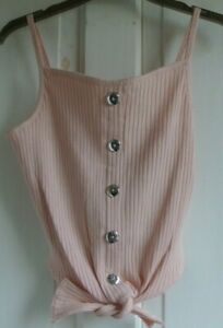 New Firetrap girls 96% cotton sleeveless top in Lotus pink XL age 13
