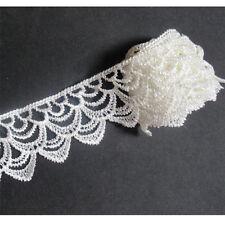 White 3 Yard DIY Embroidered Lace Edge Trim Ribbon Craft Wedding Bridal Sewing