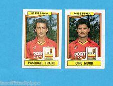PANINI CALCIATORI 1990/91-Figurina n.422- TRAINI+MURO - MESSINA -Rec