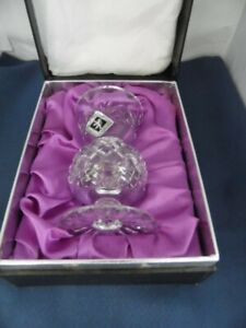 Edinburgh International Lead Crystal Vintage Thistle Vase Boxed