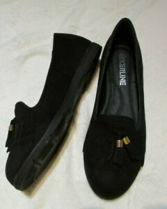 NEW IN BOX SIZE 4 BLACK TASSEL DETAIL LOAFERS