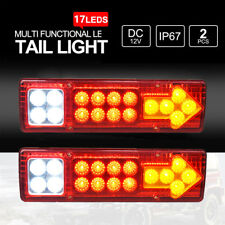 2x LED Tail Lights 12V Brake Reverse 34LEDs Trailer Truck Boat Indicator Lights