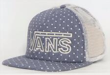 Vans Off The Wall Drop V Womens Blue Chambray Dot Snapback Trucker Hat NEW NWT