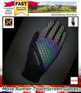 Terra Nova Extremities Maze Windproof Reflective Running Gloves - Touchscreen