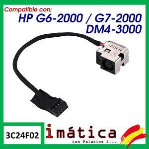 CONECTOR DE CORRIENTE PARA PORTATIL HP G6-2000 G7-2000 DM4-3000 CARGA PUERTO