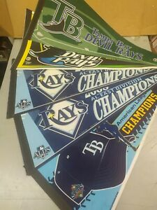 LOT OF 5 TAMPA BAY RAYS / DEVIL RAYS PENNANTS WINCRAFT/RICO BRAND