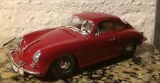 VTG BURAGO Diecast 1:18 Scale White 1961 PORSCHE 356 Cabriolet/Made in ITALY  NM