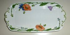 Villeroy & and Boch AMAPOLA Rectangular Cake Plate  Sandwich Tray 12.25 in 31cm