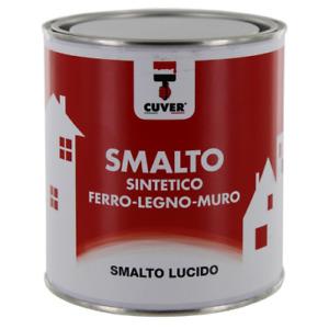 Cuver vernice smalto sintetico lucido 0,750 lt per ferro legno muro vari colori