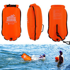 UK Inflatable Swim Buoy Safety Float Waterproof Air Dry Bag Open Water Swimming
