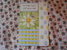 LOT OF 2 LOSS OF YOUR PET SYMPATHY CARDS