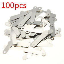 100pcs 2.5x0.5cm SPCC Nickel DIY Solder Tabs For 18650 14500 AA Sub C Battery