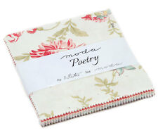 "CHARM PACK~POETRY~MODA FABRIC~42-5""SQUARES~3 SISTERS~44130PP~BEAUTIFUL FLORAL"