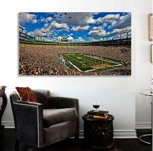 Green Bay Lambeu Field Fly Over Print Green Bay Packers Football Stadium