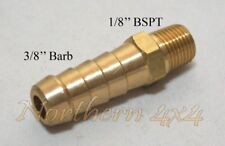 "Brass Barb Fitting 1/8 BSPT Male Thread to 3/8"" INCH Barb Straight"