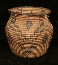 "An Attractive Antique Apache Olla Basket 7""h x 7 1/4""d"