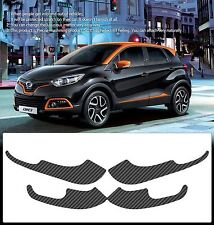Carbon Door Cover Plank Protective Film Anti Kick For RENAULT 2014-15 Captur QM3