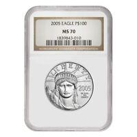 2005 1 oz $100 Platinum American Eagle NGC MS 70