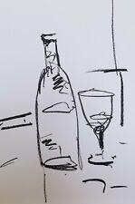 "JOSE TRUJILLO OIL PASTELS Painting ABSTRACT ORIGINAL ARTS 13X19"" BAR ART BOTTLE"