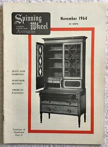 Spinning Wheel Antiques Magazine November 1964 - Furniture of Charleston SC