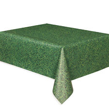 Green Grass Plastic Party Tablecover|Football Party|Plastic Party Tablecover