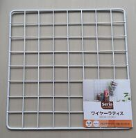 Japan Import - Kitchen Garden wire net hanging rack Mesh Memo Board wall mount