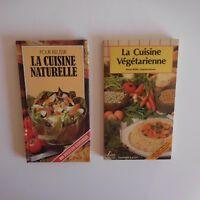 2 Folletos Recetas Cuisine Natural Vegetariana 1982 Grund 1986 Saep N3382
