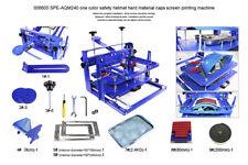 Techtongda 1 Color Screen Printer Machine For Hard Material Cambered Caps Helmet