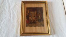 Cadre avec personnage  20 x 15,5 cm