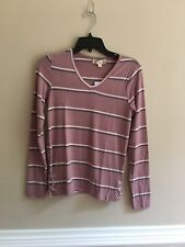 Junior's Pink Republic Lace-up Tee Color Mauve SIze XS NWT