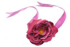 Blush Rosso/rosa rosa floreale capelli Tie W nastro e Glitter Taglio Petali (zx52)