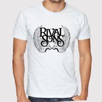 New Rival Sons Rock Band Logo Men's White T-Shirt Size S to 3XL
