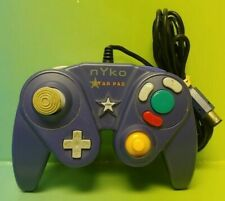 OEM Nintendo GameCube Controller NYKO Star Pad Purple Indigo Game Cube Working