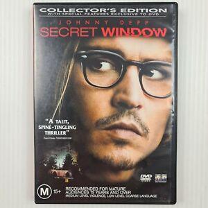 Secret Window DVD - Johnny Depp - Region 4 - TRACKED POST