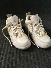 Toddler Nike Air Jordan 4 Iv White Sand Sneaker Shoe Size 10c 705345-118