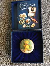 Halcyon Days Enamels Golden Teddy Bear box screw on lid Hp Shireen Faircloth