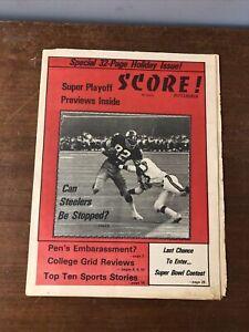 1975 Pittsburgh Score Newspaper Steelers,Russians, 1975 WTT World Team Tennis