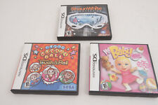 Nintendo DS 3 Game Lot Video Game Cartridge (M4R-4)Shaun White My Baby Girl Monk