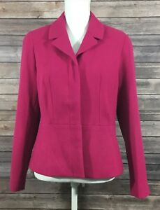 Coldwater Creek Womens Lined Blazer Suit Jacket XS 4 Career Pink EUC Stretch 29