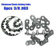 6pcs 3/8 0.063 Steel Chainsaw Chain Joiner Link For Joining Chains Replace Part