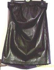 NEW LOOK Faux Leather PU MATERNITY SKIRT M/L uk16 eu42 us12 Waist w33ins w84cms