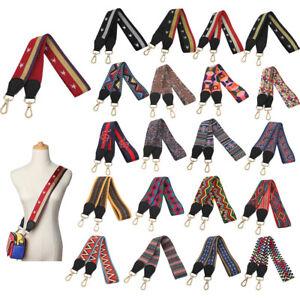 DIY Wide Bag Colorful Strap Woven Canvas Cross Body Shoulder Replacement 105cm