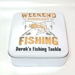Personalised Fishing Tackle Tin | Fishing Accessories | Fishing Storage | Bait S