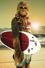 Star Wars Chewbacca Surf Board Art Poster  11 by 17 inches