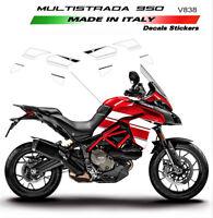 Adesivi per fiancate laterali white - Ducati Multistrada 950 - 1260