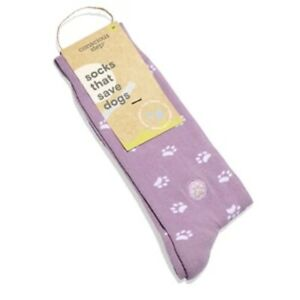 Conscious Step Socks That Save Dogs Purple