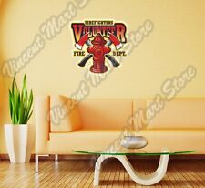 "Firefighter Fire Department Volunteer Wall Sticker Room Interior Decor 22""X22"""