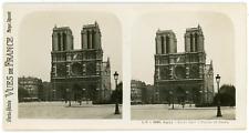 Stereo, France, Paris, Notre-Dame, façade et tours Vintage stereo card -  Tira