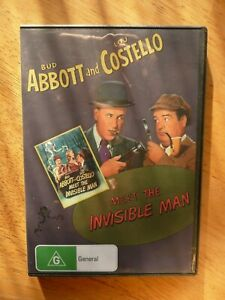 ABBOTT AND COSTELLO MEET THE INVISIBLE MAN DVD VERY GOOD NTSC REGION 4 AUS