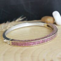 Details about  /Turkish Ruby Bracelet  925 Sterling Silver Handmade Jewelry Bangle Cuff
